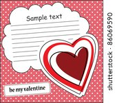 card with heart and message... | Shutterstock .eps vector #86069590