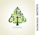 christmas tree | Shutterstock .eps vector #86070076