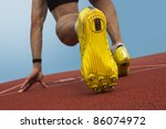 sprinter with spikes is in... | Shutterstock . vector #86074972