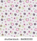 seamless pattern set in naive... | Shutterstock .eps vector #86083330