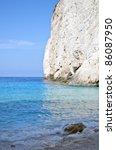 Paradise beach at Zakynthos island - Greece - stock photo