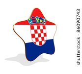 Croatia flag STAR BANNER - stock photo
