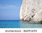 Zakynthos seacoast in Blue cave area - Greece - stock photo