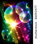 glowing stripes  vector | Shutterstock .eps vector #86092477