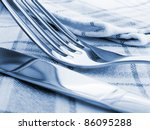 fork and knife on a napkin