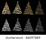 set of vector stylized... | Shutterstock .eps vector #86097889