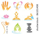 set of massage   wellnes and... | Shutterstock .eps vector #86101408
