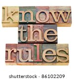 know the rules   isolated text... | Shutterstock . vector #86102209