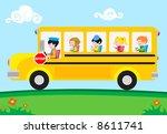 school bus | Shutterstock .eps vector #8611741