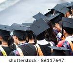shot of graduation caps during... | Shutterstock . vector #86117647