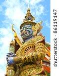 guardian statue at wat phra... | Shutterstock . vector #86119147