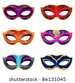 masquerade party masks | Shutterstock .eps vector #86131045