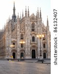 exterior of milan cathedral ...   Shutterstock . vector #86132407