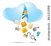 cloud computing | Shutterstock .eps vector #86151598