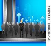 illustration of leader standing ... | Shutterstock .eps vector #86152861