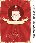 Vintage Red Christmas Card Wit...