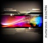 vector website design template | Shutterstock .eps vector #86162986