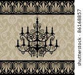 vintage chandelier silhouette...   Shutterstock .eps vector #86168857