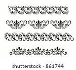 vegetative ornaments | Shutterstock . vector #861744