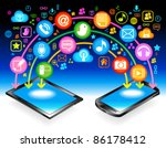 social media  communication in... | Shutterstock .eps vector #86178412