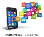 touchscreen smartphone with... | Shutterstock . vector #86181751