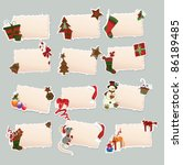 collection of new year's label   Shutterstock .eps vector #86189485