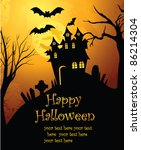 halloween background | Shutterstock .eps vector #86214304
