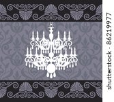 vintage chandelier silhouette... | Shutterstock .eps vector #86219977