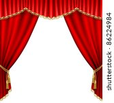 theater stage  with red curtain.... | Shutterstock .eps vector #86224984