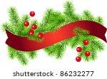christmas tree branch for... | Shutterstock .eps vector #86232277