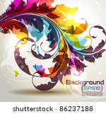 background with colored floral...