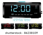 digital clocks vector | Shutterstock .eps vector #86238109