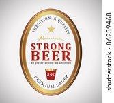 vector strong beer label | Shutterstock .eps vector #86239468