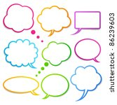 speech bubbles vector set  eps10 | Shutterstock .eps vector #86239603