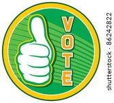 vote pin design  elections...   Shutterstock .eps vector #86242822