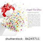open gift with fireworks from... | Shutterstock .eps vector #86245711