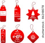 christmas tag set | Shutterstock .eps vector #86248078