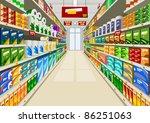 supermarket | Shutterstock .eps vector #86251063
