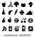 vegetables and fruit icons | Shutterstock .eps vector #86252941