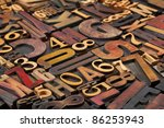 random letters and numbers in... | Shutterstock . vector #86253943