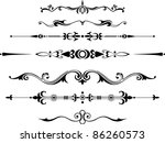 decorative dividers | Shutterstock .eps vector #86260573