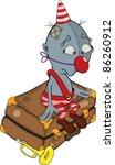 the sad clown. the troubadour... | Shutterstock .eps vector #86260912