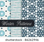 winter patterns with snowflake