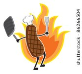grilled meat   Shutterstock .eps vector #86266504