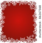 christmas red background with... | Shutterstock .eps vector #86267368