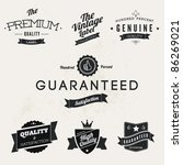 vintage styled premium quality... | Shutterstock .eps vector #86269021