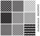geometric seamless patterns set ... | Shutterstock .eps vector #86269045