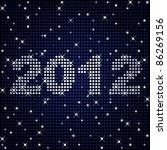 2012 in sparkles   raster | Shutterstock . vector #86269156