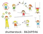 juggling kids collection. | Shutterstock .eps vector #86269546