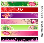 love & hearts website banners / vector / ideally for you use - stock vector